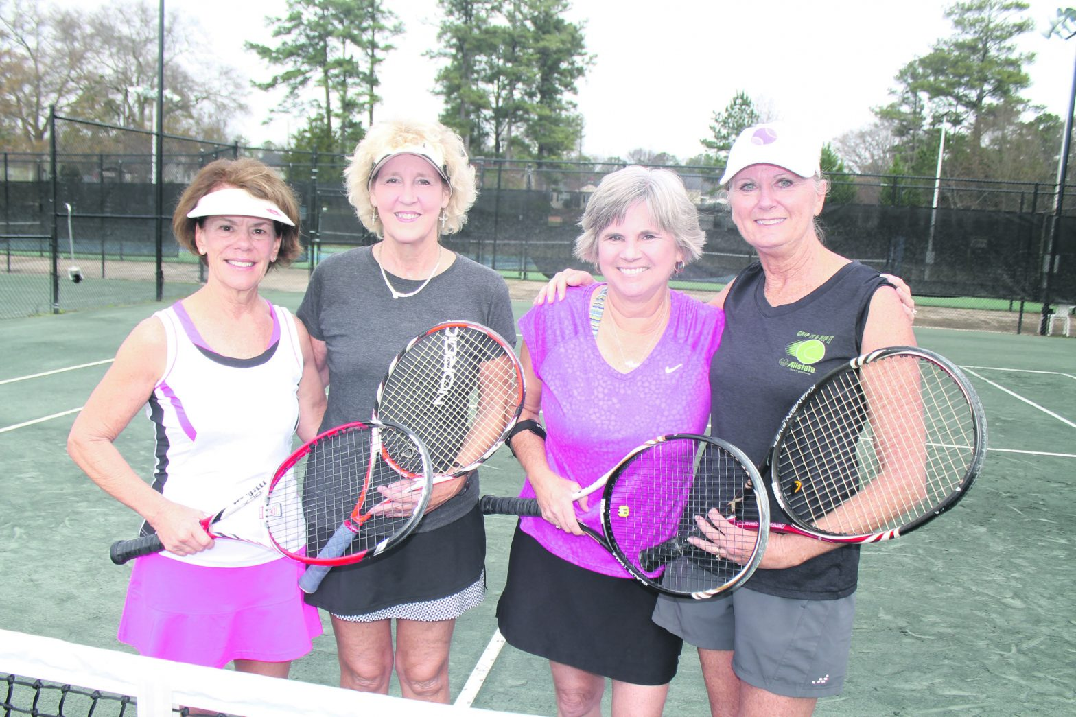 Tennis Foursome Plays  Every Saturday In LaGrange
