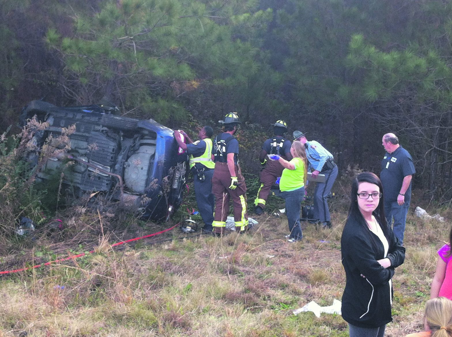 Woman And Infant Airlifted  After Wares Cross Road Wreck