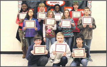 Callaway Middle School's  January 'Student Of The Month'