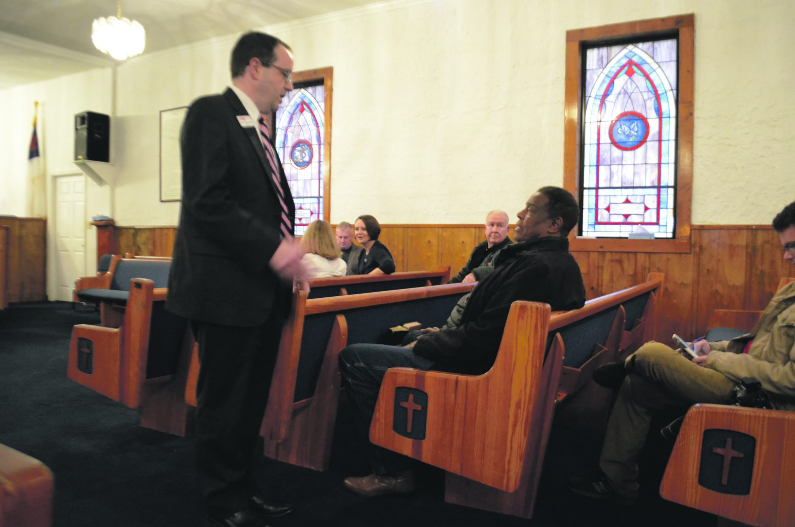 Mayor Holds First Town Hall Meeting  At Confidence Baptist Church