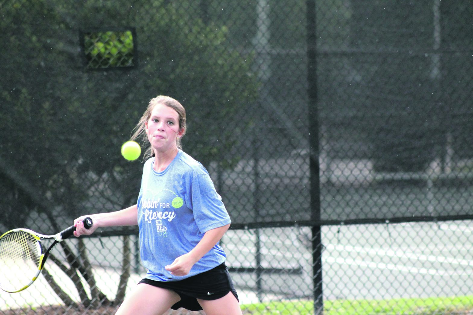 Cadenhead Finishes What  She Starts, 15 Year Old  Wins Girls Doubles Mixer