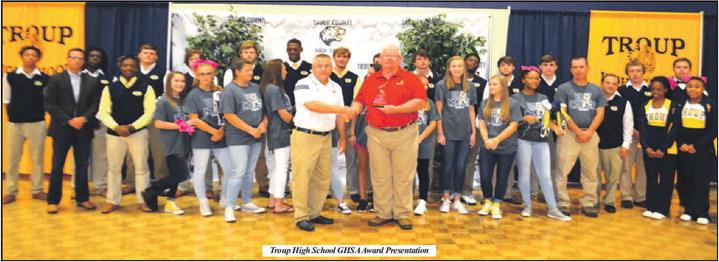 Troup High School Receives GHSA Sportsmanship Award