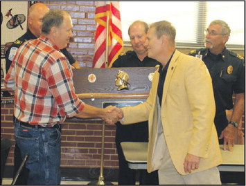 Firefighter Receives 30 Year Service Award