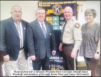 Sheriff James Woodruff Makes  Presentation To Kiwanis Club