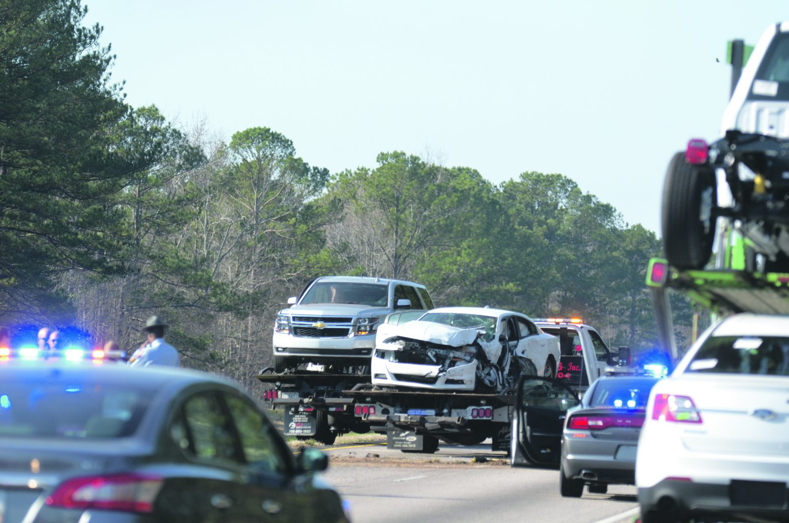 Interstate Chase Ends In Crash; Three In Custody