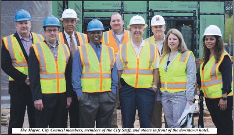 Mayor And Council Take A  Tour Of The Downtown Hotel