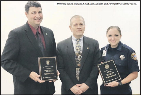 Optimist Club Honors City Firefighter  And Police Officer Of The Year