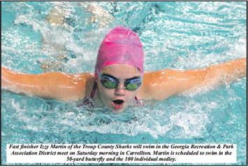 Moore Will Lead Sharks Into  Saturday's District Swim
