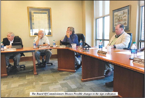 County Commissioners Discuss  Possible Changes to the Sign Ordinance