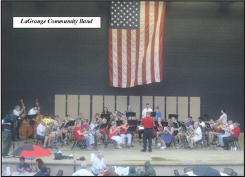 LaGrange Residents Show Patriotic  Spirit Despite Weather