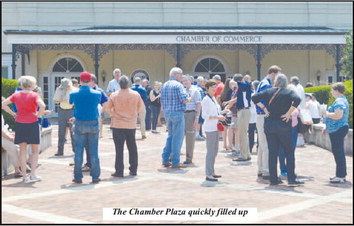 Solar Eclipse Party Takes Over the Chamber Plaza