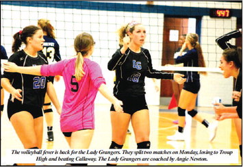 Lady Tigers Put The Volleyball  Whammy On LaGrange, Callaway