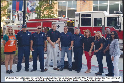 Local Firefighters Honored at   Braves Game