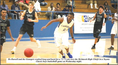 """LaGrange Clips McIntosh, 72-71;  Veal: """"We showed our competitive nature."""""""