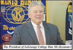 Kiwanis Hears Dual Presentation on LaGrange College and Koats for Kids