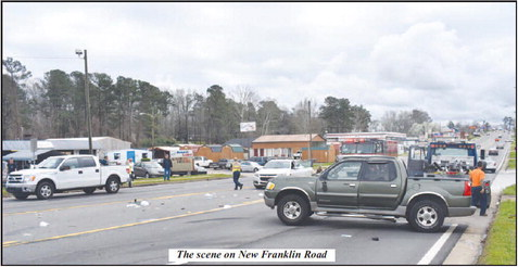 Huge Wreck Causes Hit and Run  Situation on New Franklin Road