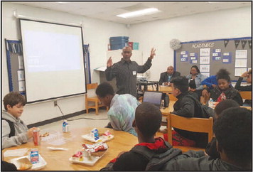 Gardner Newman Middle School Recently Had Guest Speakers   for Students in their Mentoring Program