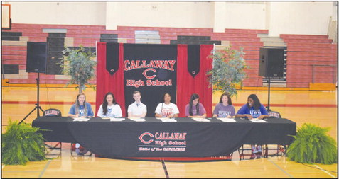 Callaway Holds Academic Signing Day
