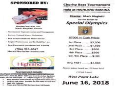 Highland Marina Fishing Tournament Schedule