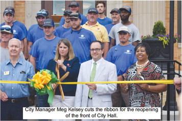 LaGrange Celebrates Re-Opening of City Hall,  Dedicates Bench to Former Employees