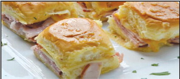 Baked Ham and Cheese  Party Sandwiches