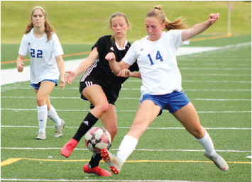 Thompson, Ormsby Score Second Half Goals, but LaGrange Girls Lose to Cougars, 4-2