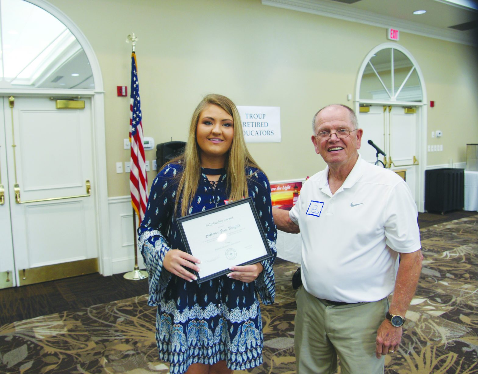 Troup Retired Educators  Name the 2018-2019  Scholarship Recipient