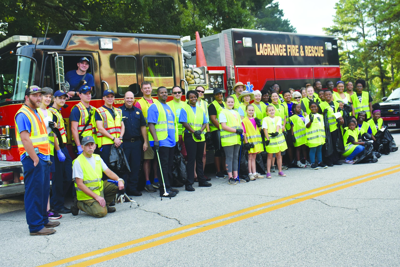 Community Joins City of LaGrange  in August Litter Pickup