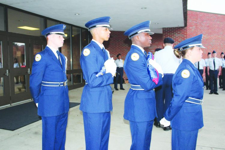 Troup High School Air  Force Junior ROTC  Remembers 9/11