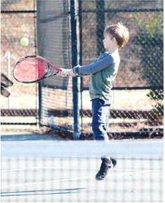 """Vincent Brothers are Tennis Naturals,   """"This is kind of fun."""""""