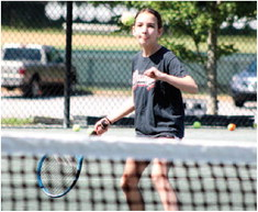 """Tennis Youngsters Get a Grip,  Dolinger: """"We're doing friends stuff."""""""