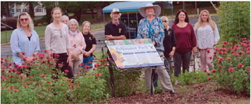 Hogansville Welcomes New Sign to Pollinator Park