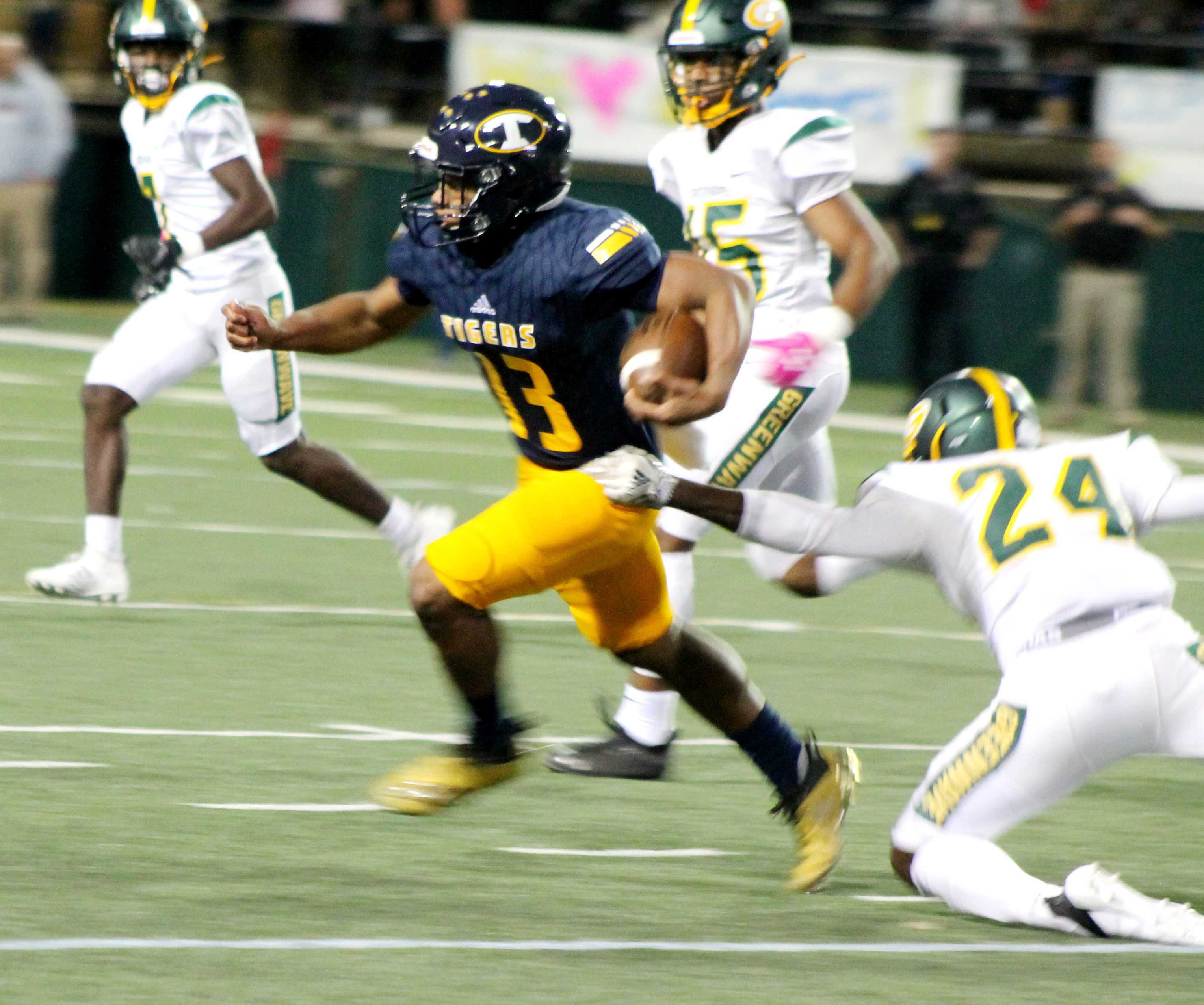 Taeo Todd Rambles for 192 Yards, Troup Dominates the Green Wave