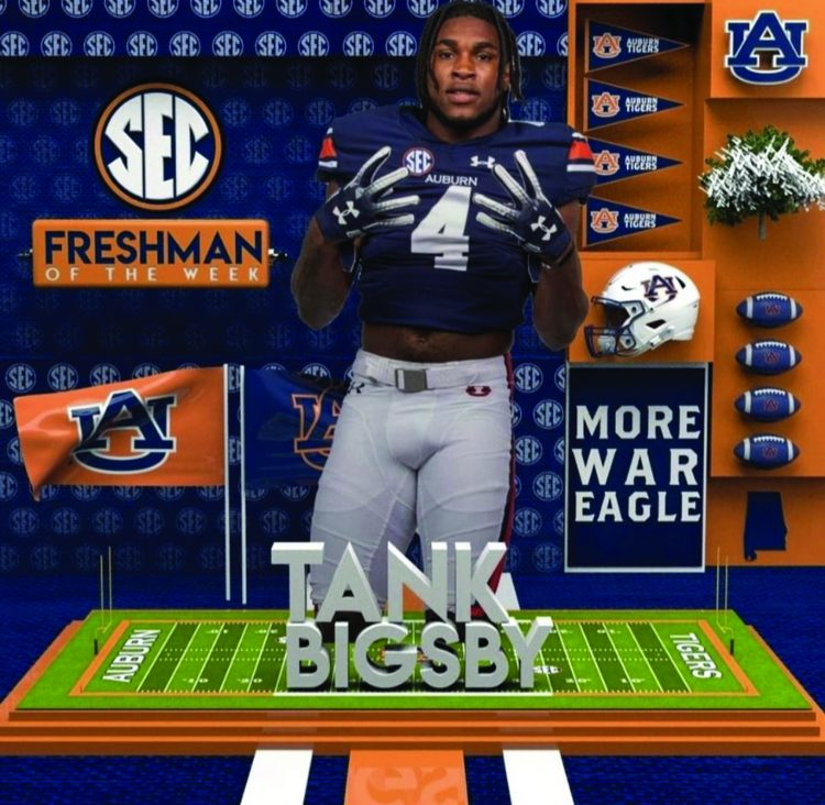 Tank Bigsby Honored as SEC Player of the Week