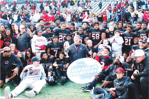 Cavaliers Outmuscle Fitzgerald, 22-17, Callaway Scoops Up State Football Title