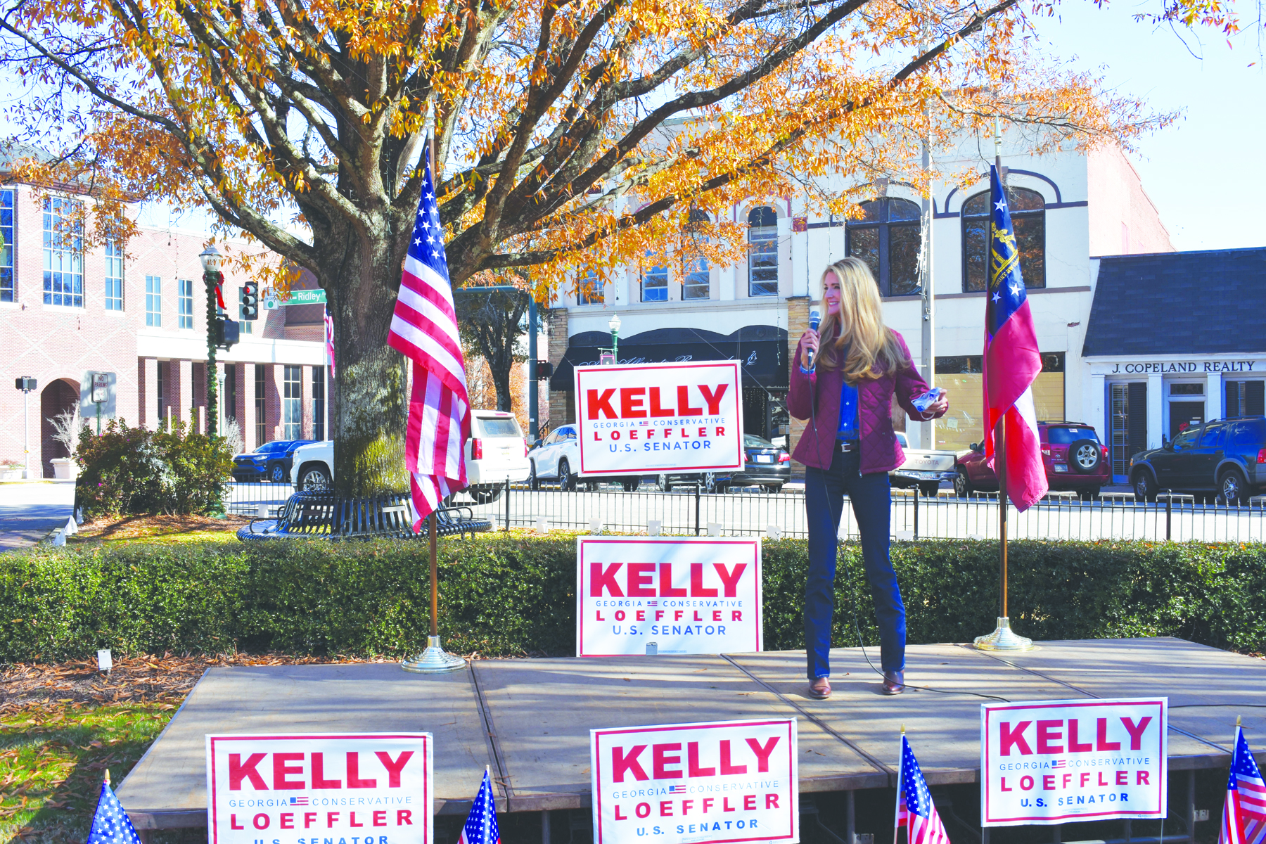 Senator Kelly Loeffler Visits LaGrange, Defends American Flag and Values