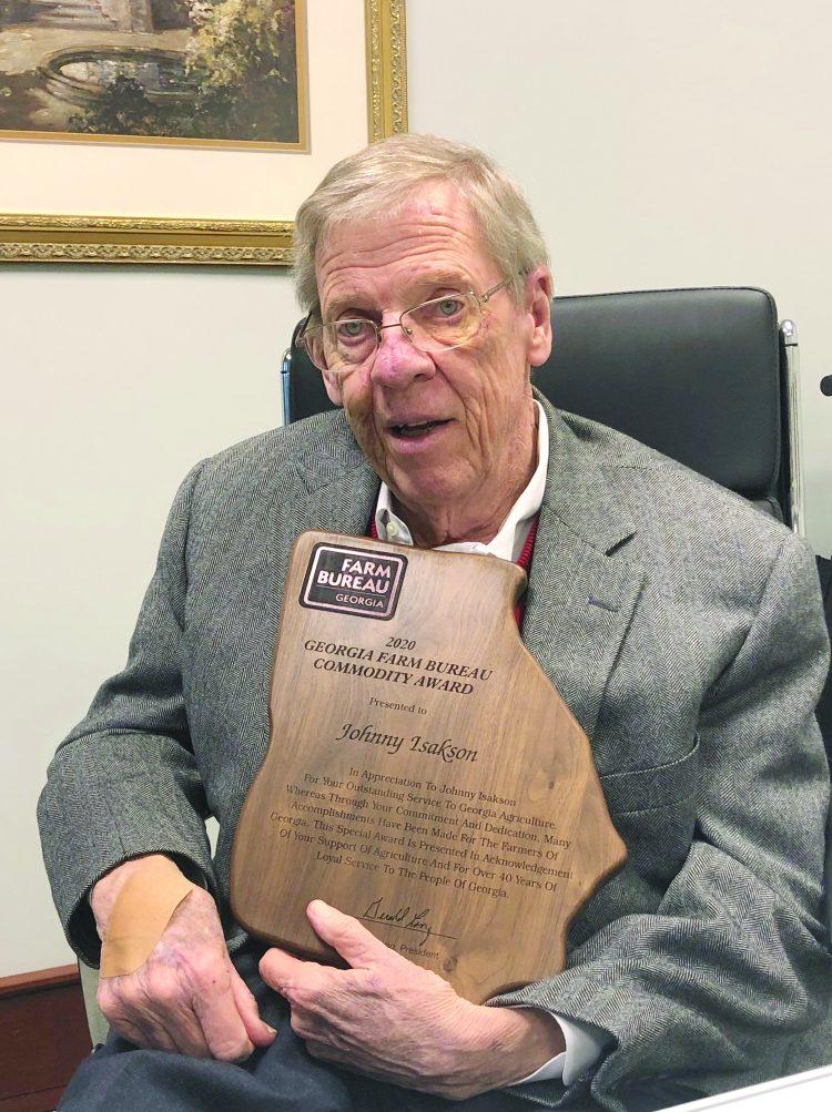 Georgia Farm Bureau Honors Sen. Isakson with Commodity Award