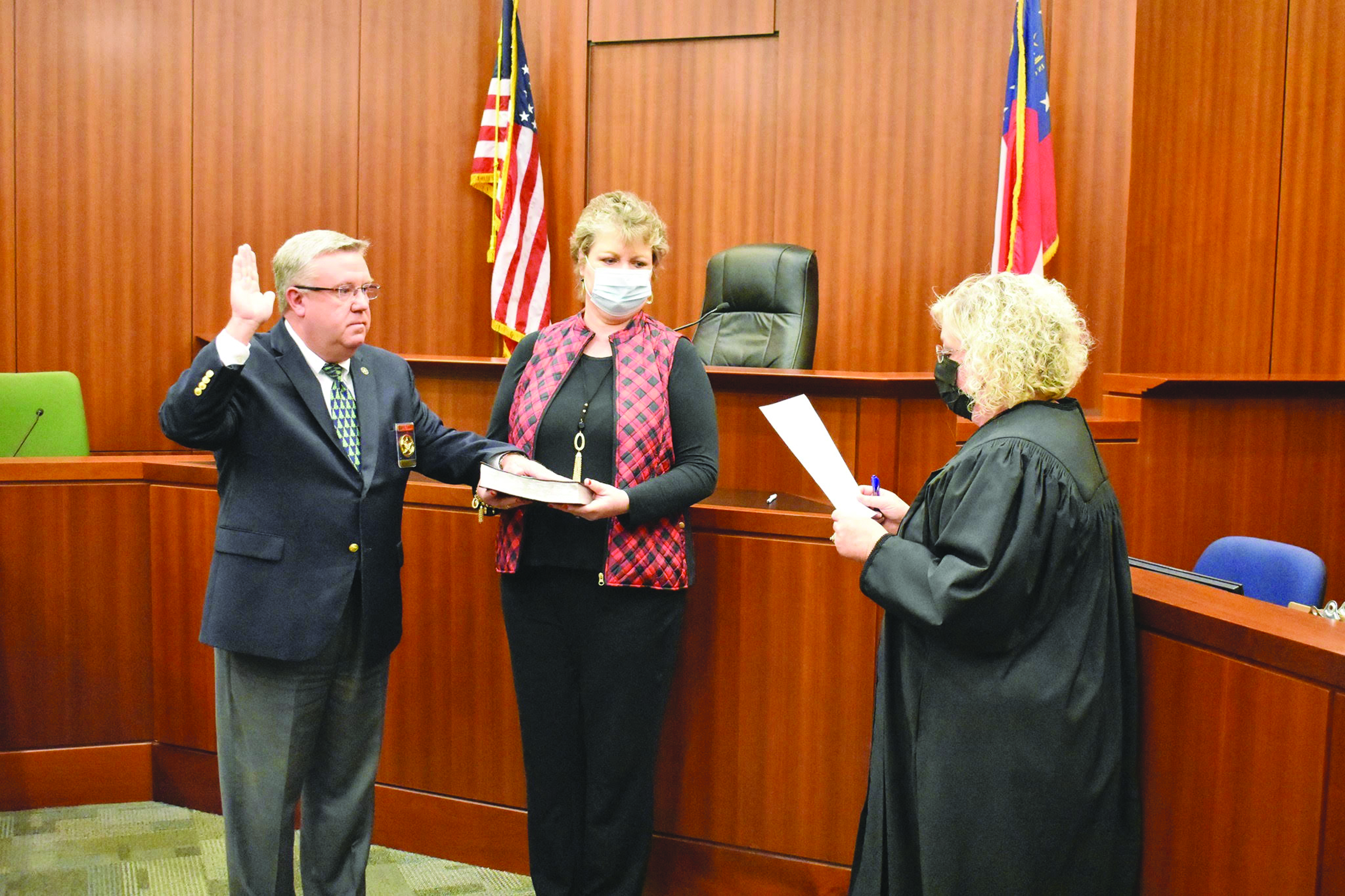 Sheriff James Woodruff Sworn in to Third Term