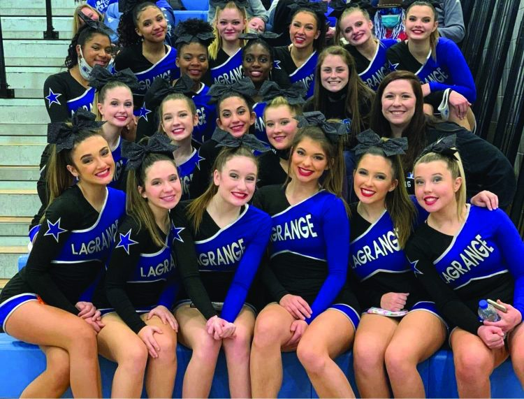 LHS and LCMS Cheerleading Place First in Starr's Mill Competition