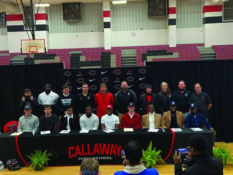 Callaway Football Players to Compete at the Next Level