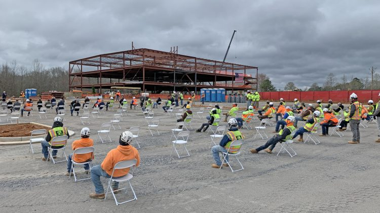 WGTC Campus Construction: First Building Topped Out